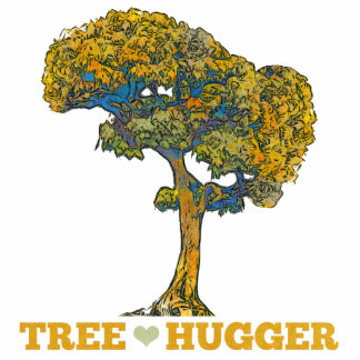Baum Hugger Freistehende Fotoskulptur