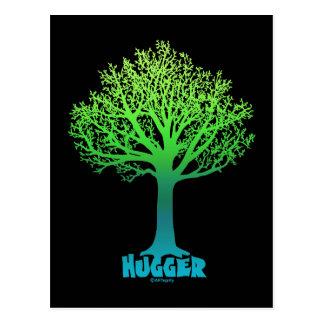 Baum Hugger grüner Regenbogen Postkarte