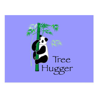 Baum Hugger Panda Postkarte