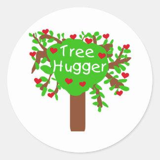 Baum Hugger Runder Aufkleber