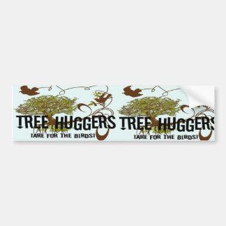 Baum Huggers sind für die Vögel Autoaufkleber