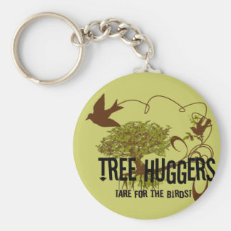 Baum Huggers sind für die Vögel Standard Runder Schlüsselanhänger