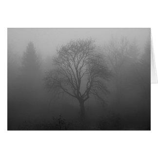 Baum im Nebel Karte