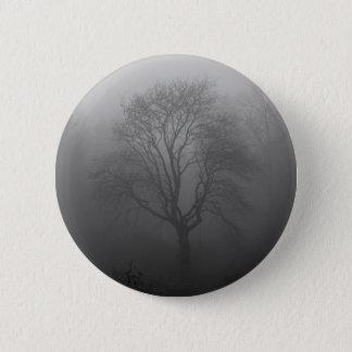Baum im Nebel Runder Button 5,1 Cm