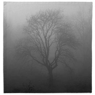 Baum im Nebel Serviette
