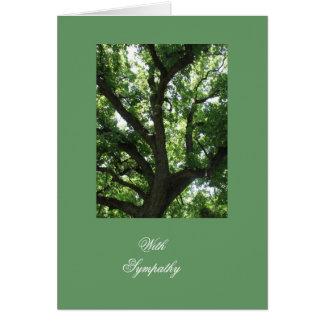 Baum-Inspirational Beileid Grußkarte
