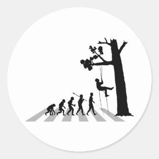 Baum-Klettern Runder Aufkleber