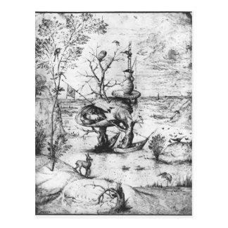 Baum-Mann durch Hieronymus Bosch Postkarte