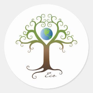 Baum mit den Niederlassungen, die Planetenerde umg Sticker