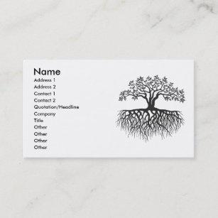 Baum Mit Wurzeln Visitenkarte