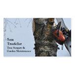 Baum-Operations-Geschäftskarte Visitenkartenvorlagen