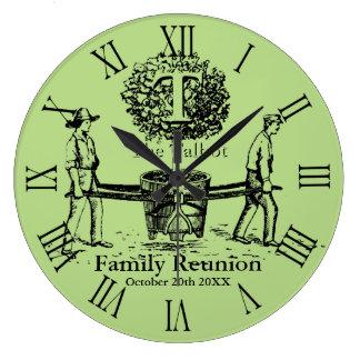 Baum-personalisierte Familien-Wiedersehen-Wand-Uhr Große Wanduhr
