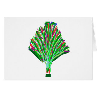 BAUM Pflanzen-Grün-Freude-künstlerische Karte