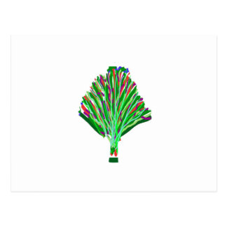 BAUM Pflanzen-Grün-Freude-künstlerische Postkarte