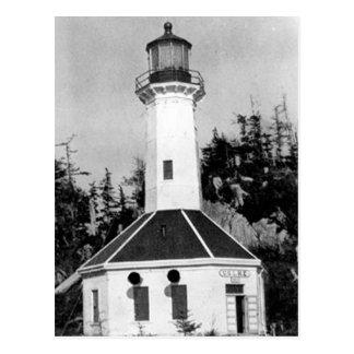 Baum-Punkt-Leuchtturm Postkarte