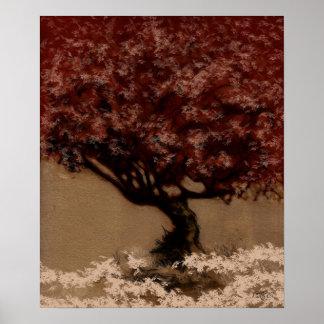 Baum - rote Veränderung 10 Poster