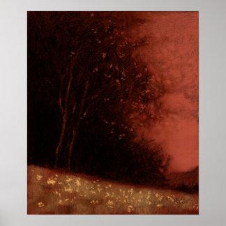 Baum - rote Veränderung 11 Poster