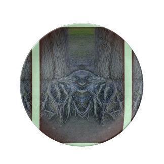 Baum Schläger-Platte Porzellanteller
