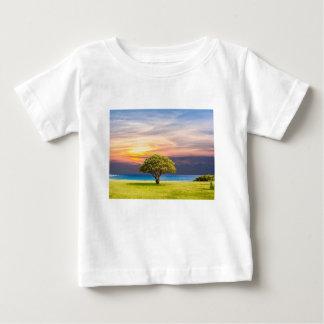 Baum-Seegras-Natur-Ozean-Sommer-Landschaft Sun Baby T-shirt