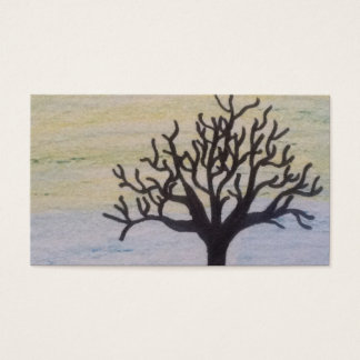 Baum-Silhouette auf Sonnenuntergang Visitenkarten