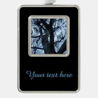 Baum-Silhouette-Fotografie-kundengerechte Rahmen-Ornament Silber