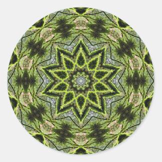 Baum-Stern-rundes kleines, 1 ½ Zoll (Blatt von 20) Runder Aufkleber