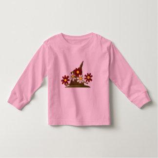 Baum-Stumpf-Blumen Kleinkind T-shirt