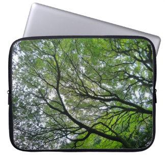Baum-Überdachung V, Hinterkanten-Park, Cardiff Laptopschutzhülle