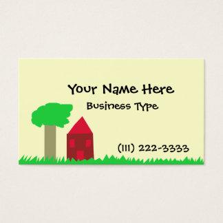 Baum und Haus Visitenkarte