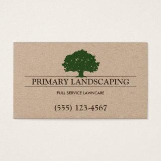 Baum-und Rasen-Service, der Landschaftsgestalter Visitenkarte