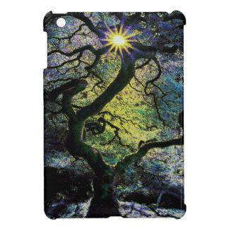Baum- und Sonnenscheingrafik b iPad Mini Hülle