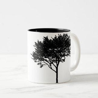 Baum-und Vogel-Tasse Zweifarbige Tasse