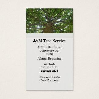 Baum-Visitenkarte Visitenkarte