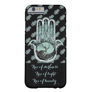 Baum von hellem und von Dunkelheit (Hamsa Hand) Barely There iPhone 6 Hülle