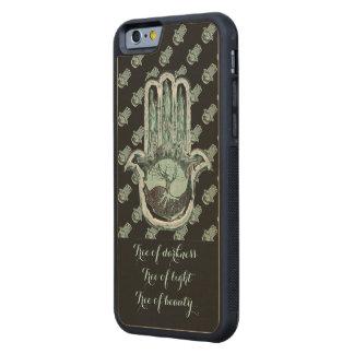 Baum von hellem und von Dunkelheit (Hamsa Hand) Bumper iPhone 6 Hülle Ahorn
