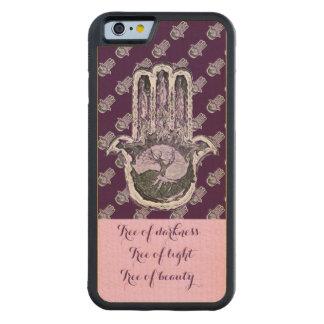 Baum von hellem und von Dunkelheit (lila) Bumper iPhone 6 Hülle Ahorn
