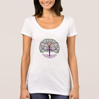 Baum von Leben Schaufel-Hals Shirt