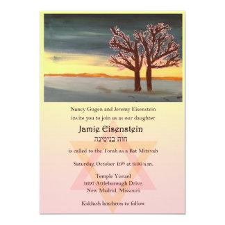 Baum von Leben-Schläger Mitzvah Einladung