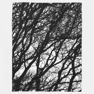 Baumaste im Winter hochauflösendes v2 Fleecedecke