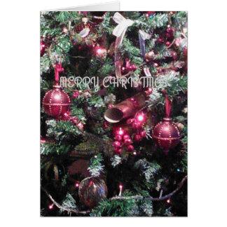"""Baumdekorationskarte """"der frohen Weihnachten"""" Karte"""
