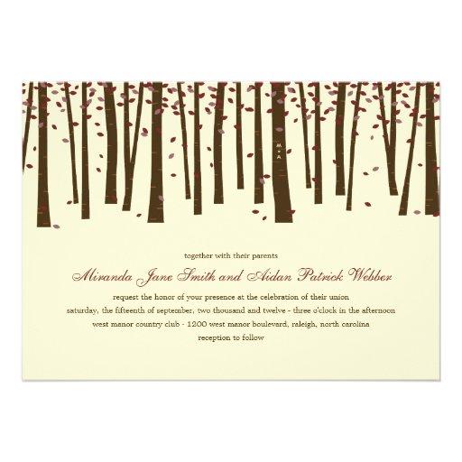 Bäume des Waldes, die Einladung - Burgunder