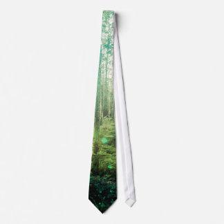 Bäume des Waldes - im Holz-Muster Bedruckte Krawatten