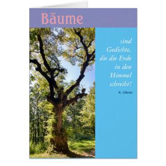"""Bäume - Gedichte im Himmel, """"Gute Besserung"""" Karte"""