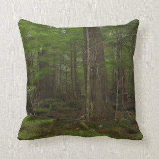 Bäume, grüne WaldTag der Erde-Natur-Kunst Kissen