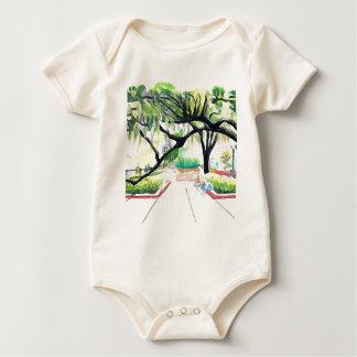 Bäume im See Eola Baby Strampler