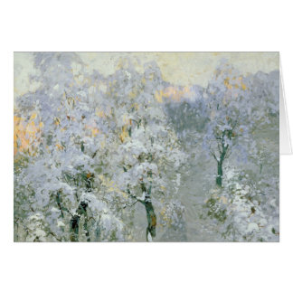Bäume in winterlichem Silver, 1910 Karte