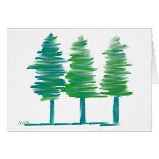 Bäume notecard karte