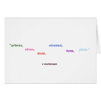Bäume, Träume… Franzosen Grußkarten