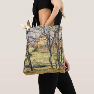 Bäume und Häuser nähern sich Jas de Bouffan Tasche