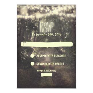 Bäume und Nachtlichter, die UAWG-Karten wedding 8,9 X 12,7 Cm Einladungskarte